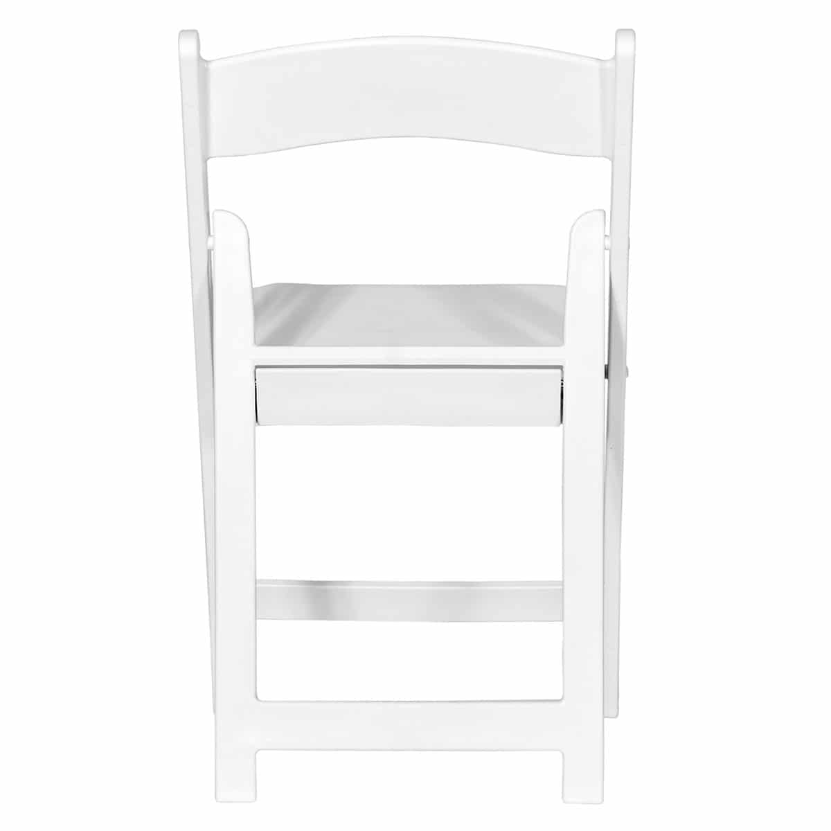 Economic white folding chair Sphinx model - Back view
