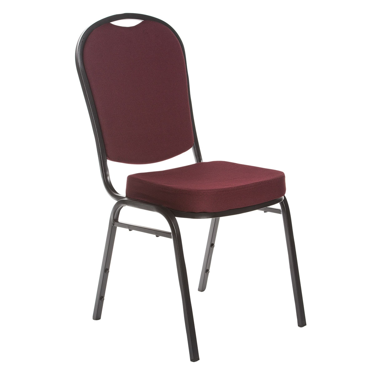 Burgundy stacking chair