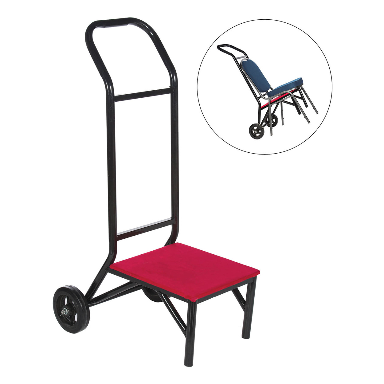 2 Wheels stacking chairs dolly